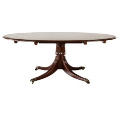 Antique Anglo-Indian or British Colonial Mahogany Oval Table