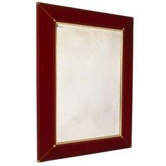 Claudius Velvet Antiqued Mirror