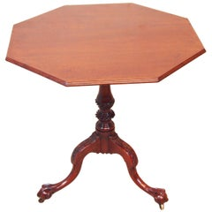 Antique 18th Century Mahogany Tripod Table