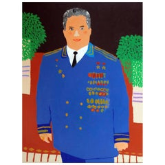 'Power Dressing' Portrait Painting by Alan Fears