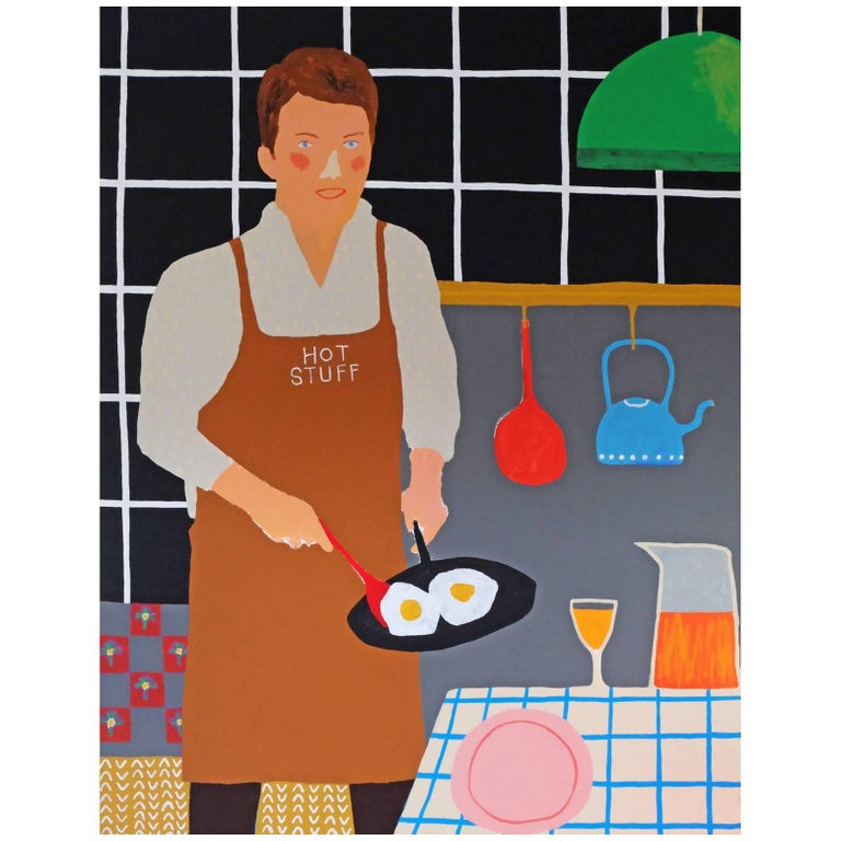 'The Dish' Portrait Painting by Alan Fears