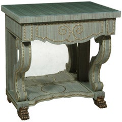 Maximus Bedside Table with Fabric and Glass Top