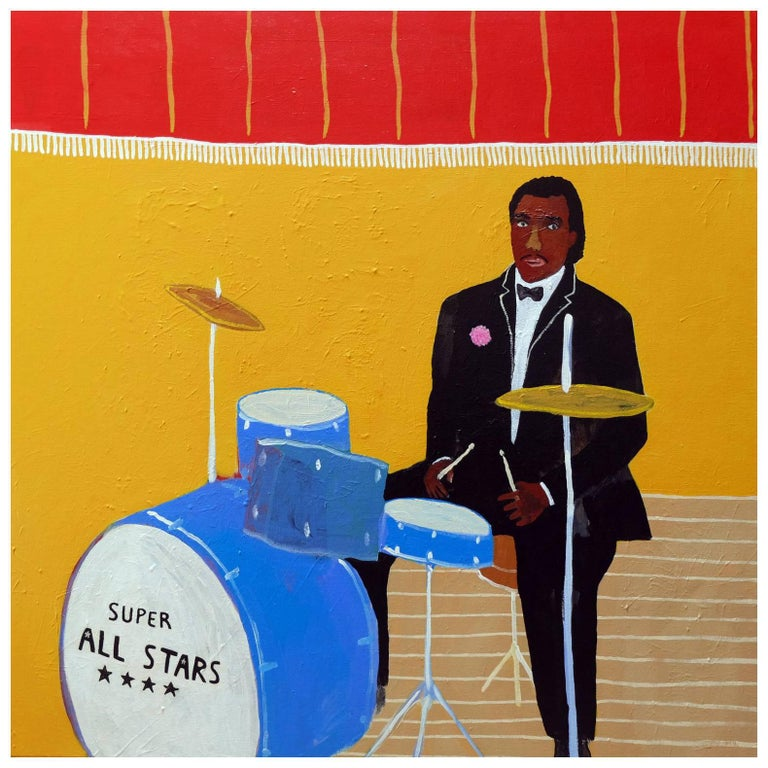'The Little Finale' Portrait Painting by Alan Fears Drummer