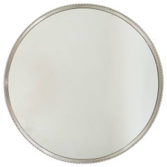 Round Mirror with a Nickel Plated Frame