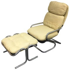 Jerry Johnson Landes Manufacturing Company Sling Chair, Ottoman