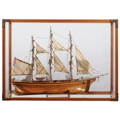 English Late 19th Century Model of the Cutty Sark Ship with Display Case