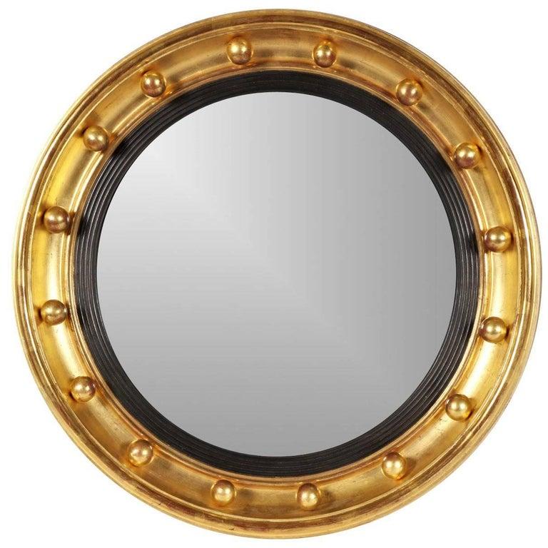 Small Antique Bullseye Mirror