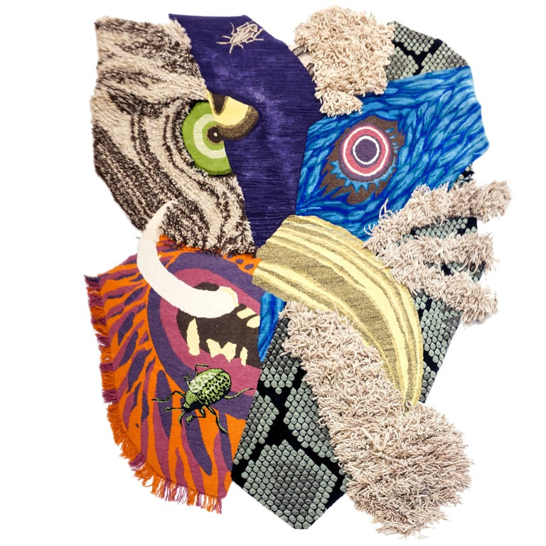 Contemporary Design Rug, Animal Mask