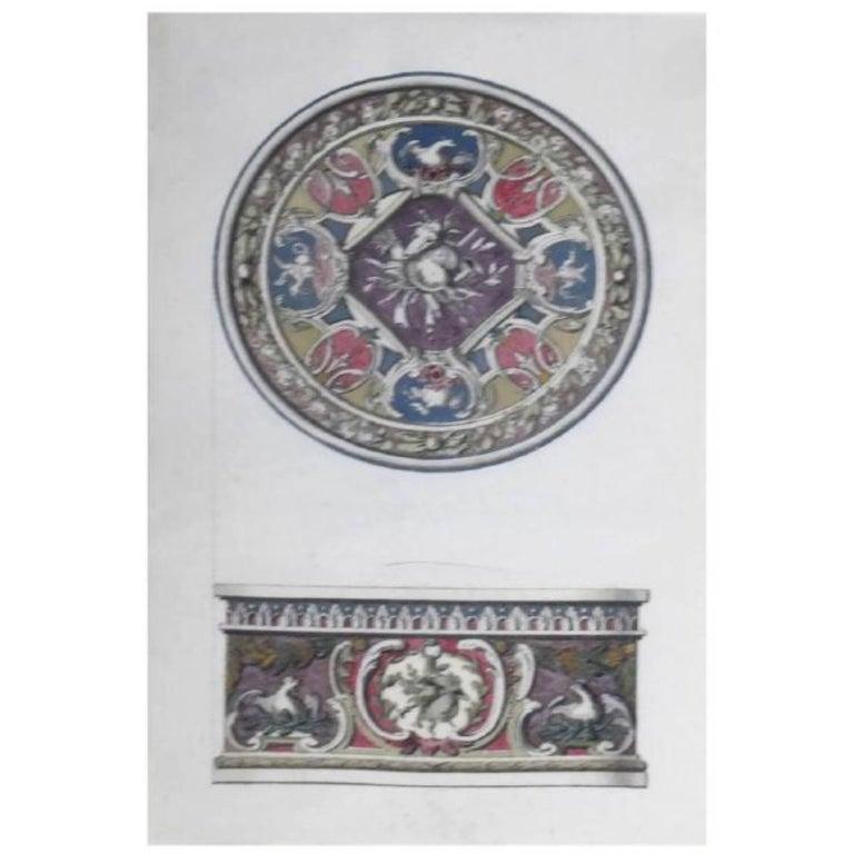 Louis xvi watercolor designs for snuff box late 18th century for sale at 1stdibs - Italian garden design ideas to make exquisite roman era garden ...