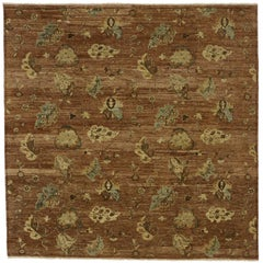 New Transitional Square Rug with Modern Style