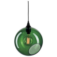 Ballroom Extra Large Army Pendant with Silver Edge Black Socket Ceiling Lamp