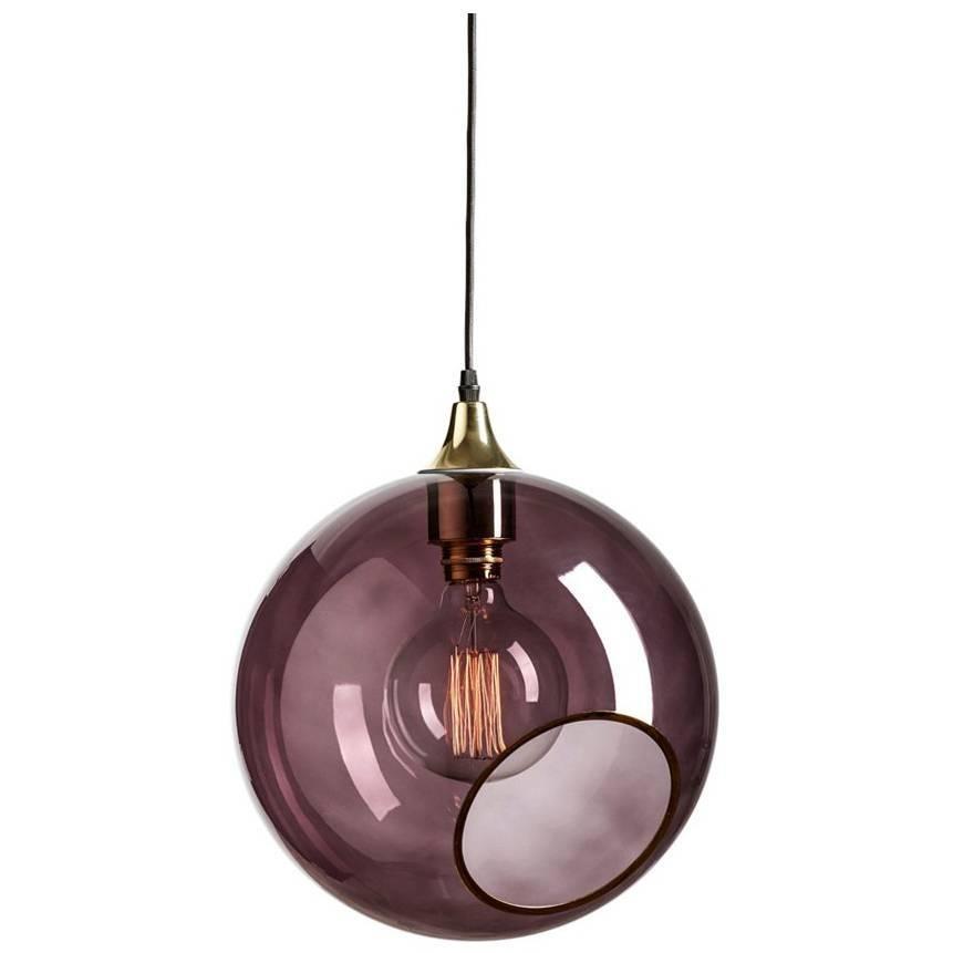 Ballroom Extra Large Purple Pendant with Edge Brass Socket Ceiling Lamp