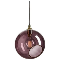 Ballroom Extra Large Purple Pendant with Edge Brass Socket Ceiling Lamp