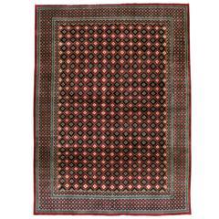 Vintage Mashad Deco Style Rug