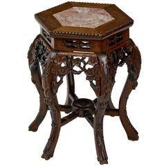 19th Century Carved Hard Wood Chinese Jardinere Stand