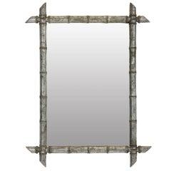 A Silver Leaf Bamboo Mirror