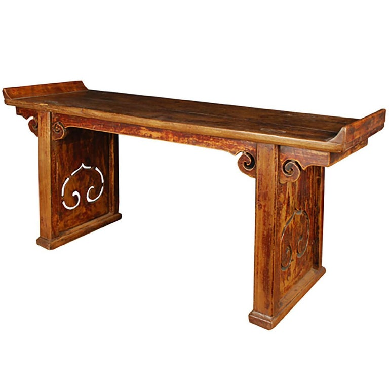Chinese Bench with Everted Ends