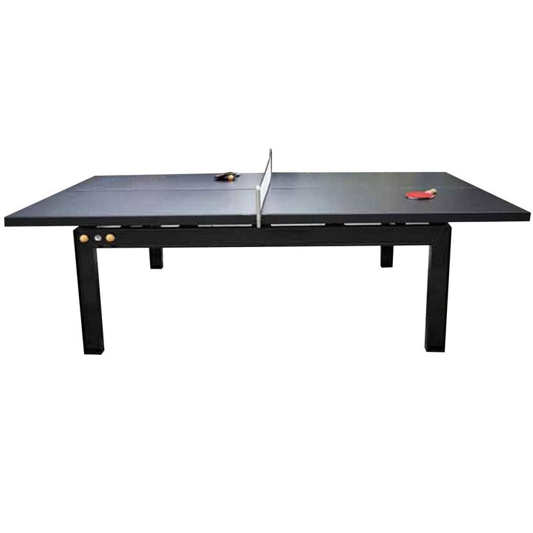 Handcrafted Contemporary Design Stainless Steel Ping Pong Table