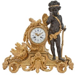 French 19th Century Louis XVI Style Ormolu Clock by Japy Frères and Bardon Paris