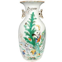 Chinese Spring Blossoms Phoenix Tail Vase