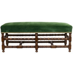 English Bench with Turned Base
