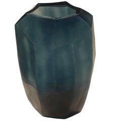 Blue Cubist Vase, Romania, Contemporary
