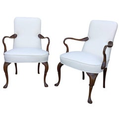 Pair of Late 19th Century English George II Style Armchairs