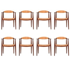 Set of Eight Hans Wenger Armchairs