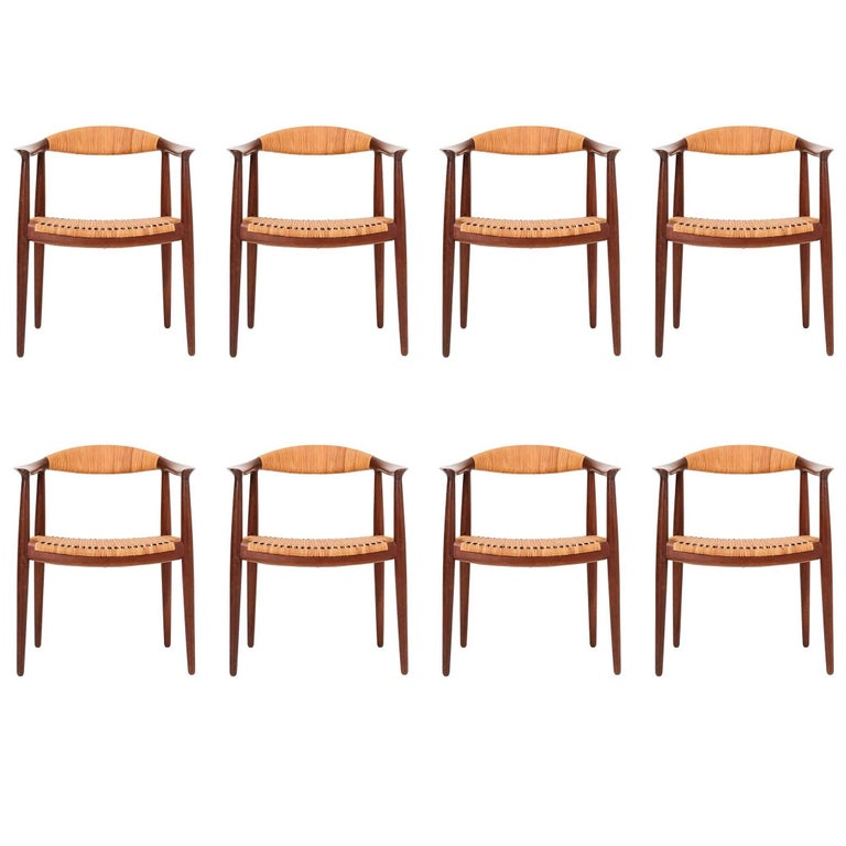 Set of Eight Hans Wegner Armchairs