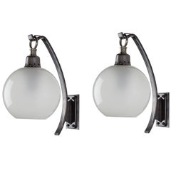 "Pair of Original ""Boccia"" Wall Lights by Luigi Caccia Dominioni for Azucena"