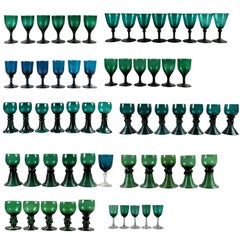 Collection of 61 Green Glasses
