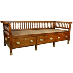 Anglo-Indian Teakwood Campaign Daybed