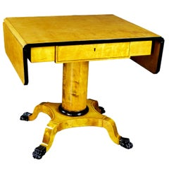 Biedermeier Style Drop-Leaf Sofa Table