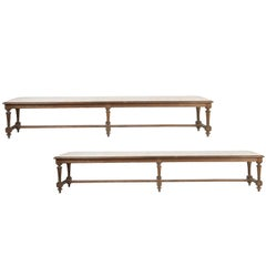 Pair of French Oak Banquettes