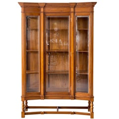 Antique Anglo-Indian or British Colonial Teak Wood Display Cabinet