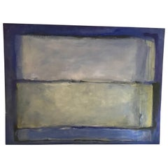 Large Blue Rothko-Style Wall Painting
