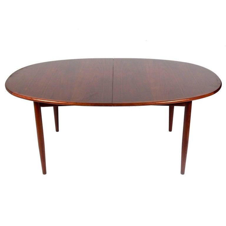 Danish Modern Teak Dining Table Seats 6-12