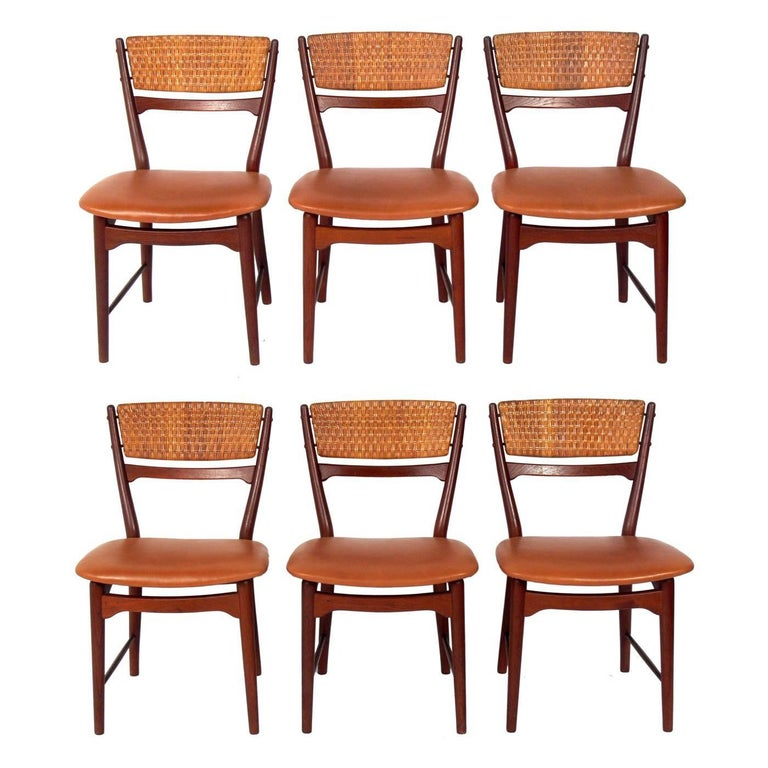 Set of Six Curvaceous Danish Modern Dining Chairs