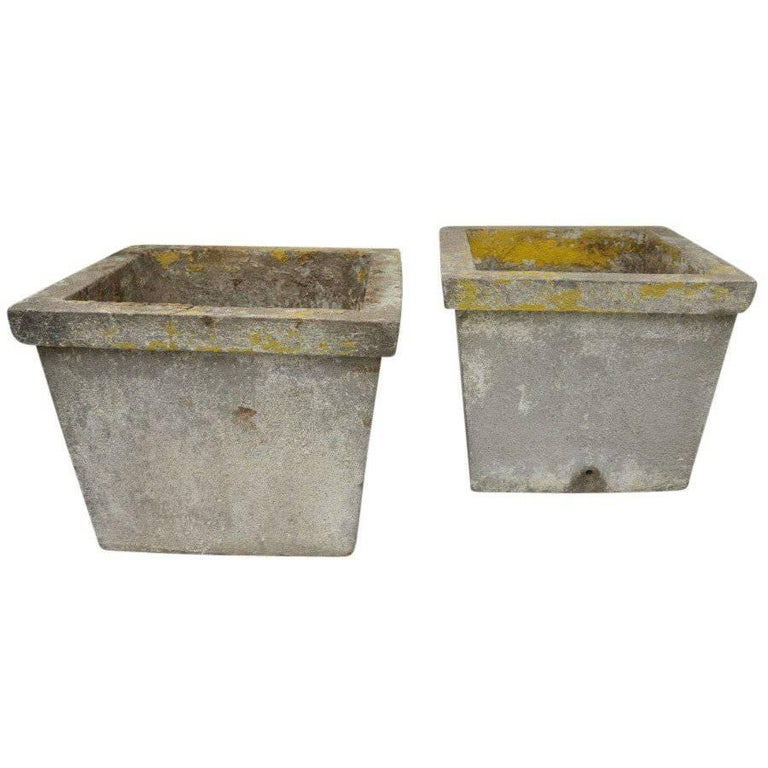 Antique French Cement Planters For Sale