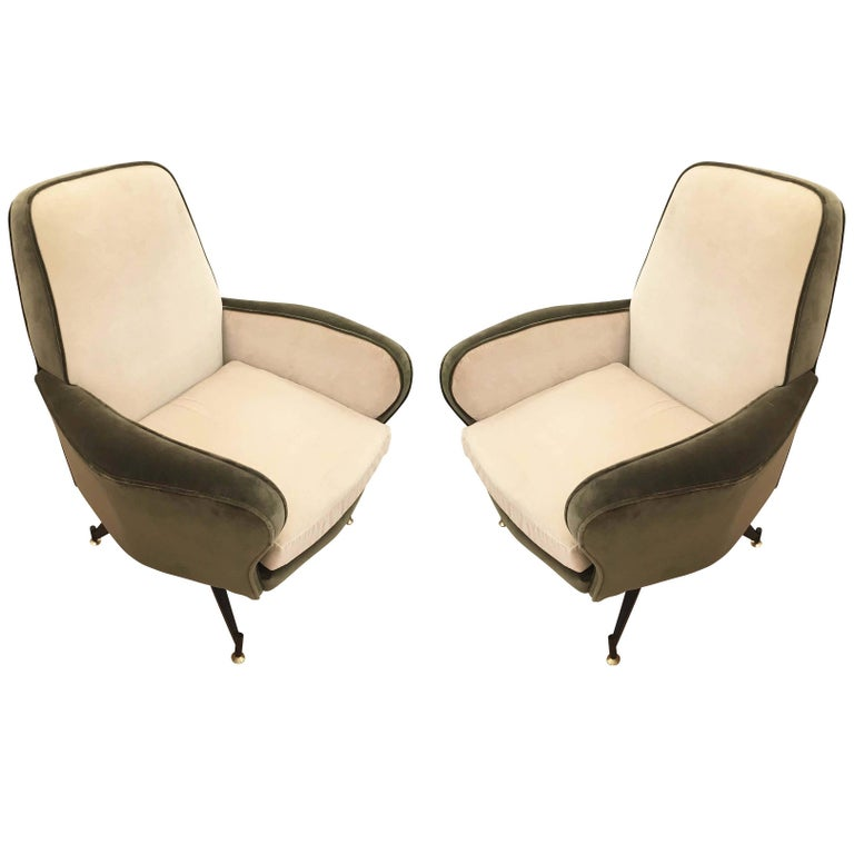 Pair of Lounge Chairs Attributed to Formanova, Italy, 1960s