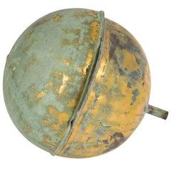 Gilt Copper Globe Form Architectural Finial