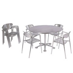Jorge Pensi Table and Four Toledo Chairs for Amat / Knoll