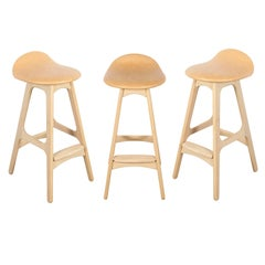 Erik Buch Counter Height Stool, Set of Three
