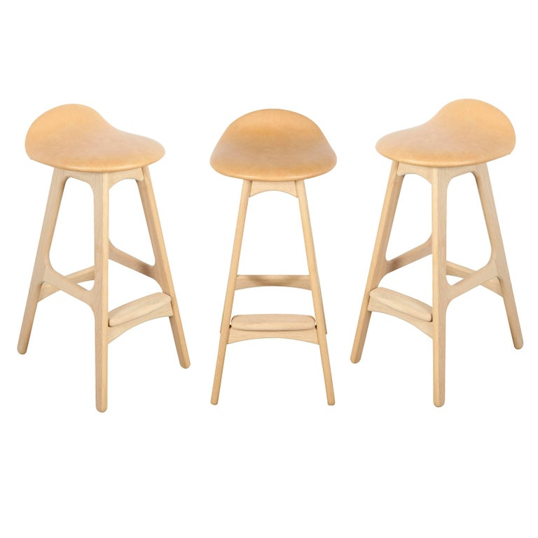 Erik buch counter height stool set of three for sale at 1stdibs - Erik buch bar stool ...