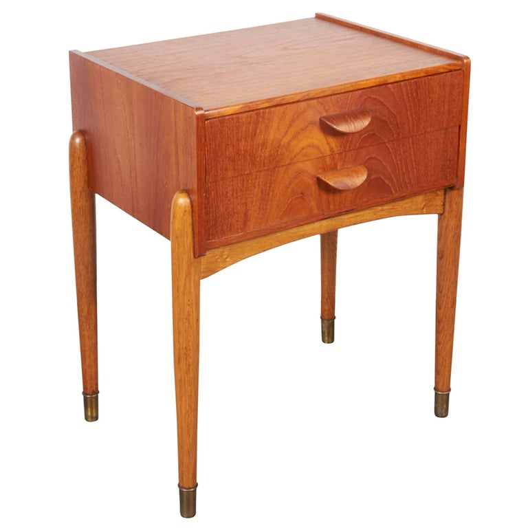 Danish Teak Nightstand by Poul Volther 1