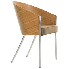 """""""King Costes"""" Curved Bamboo or Striped Wenge Armchair by P. Stark for Driade"""