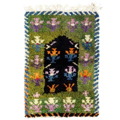 Vintage One-of-a-Kind Tulu Rug with Striking Design in Bright Colors