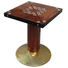 Rare Vienna Secession Pedestal Game Table