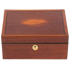 Mahogany Box with Shell Design