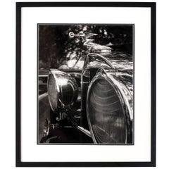 1960s Black and White Car Photograph
